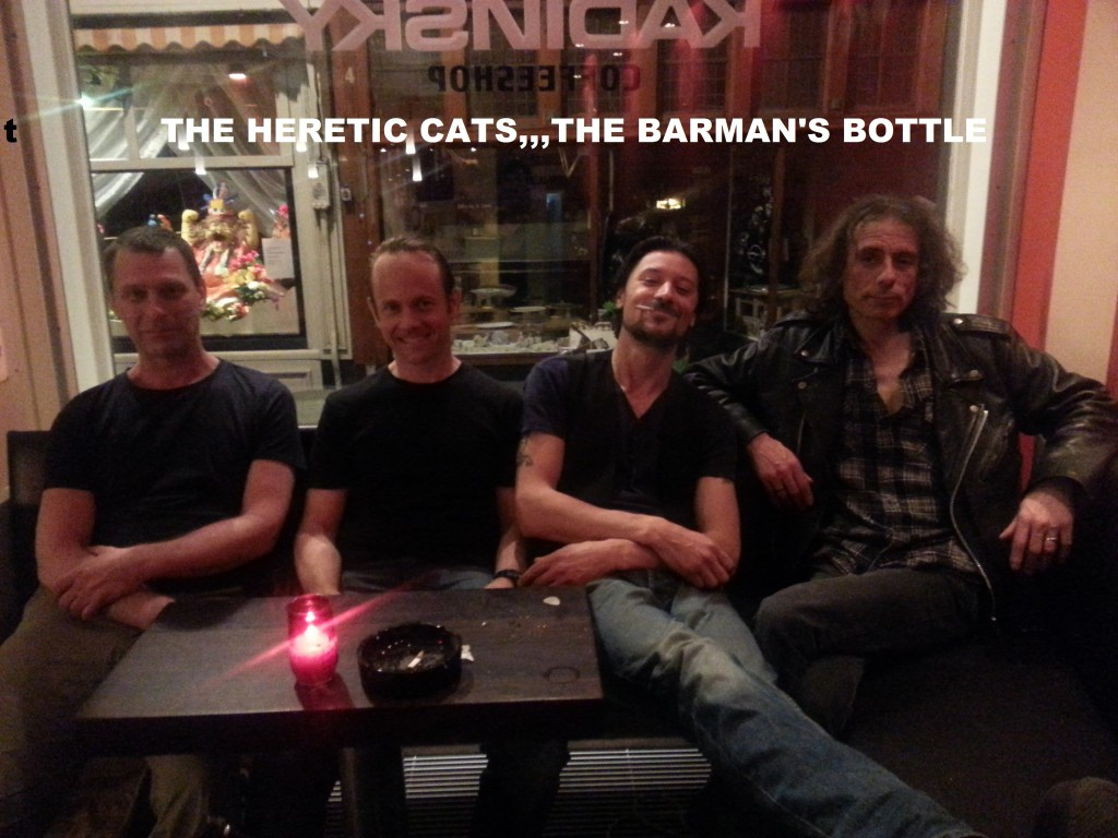 Heretic Cats the barman's bottle